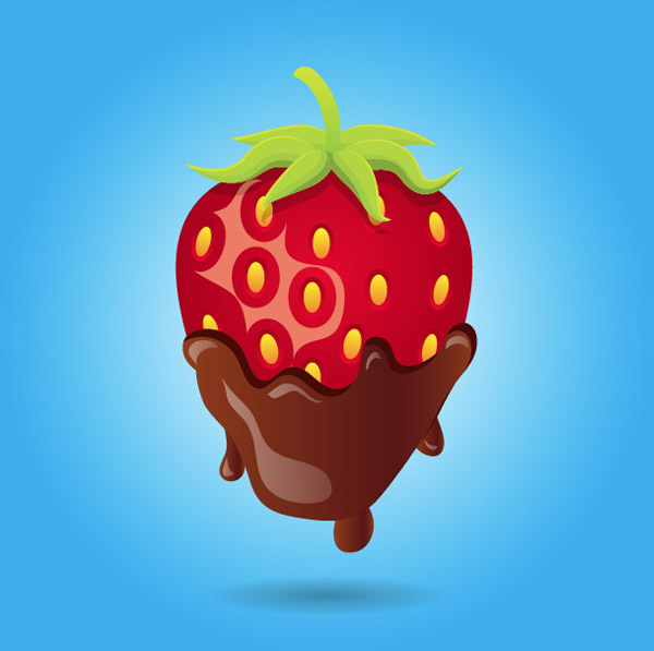 Create A Mouthwatering Chocolate Covered Strawberry in Illustrator