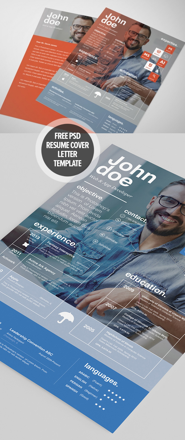 free resume template cover letter template - Free Resume And Cover Letter Templates