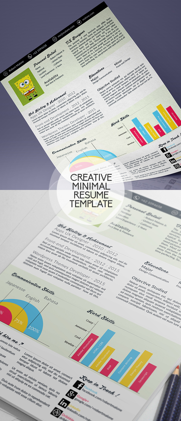 15 free psd cvresume and cover letter templates freebies clean minimal psd resume template madrichimfo Image collections