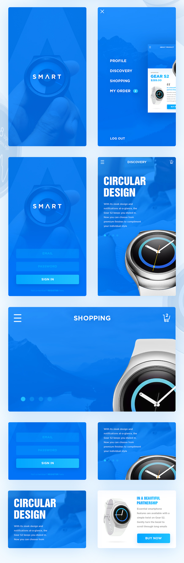 Free PSD UI Mobile Watch