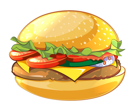 How to Create Cartoon Style Vector Burger in Illustrator