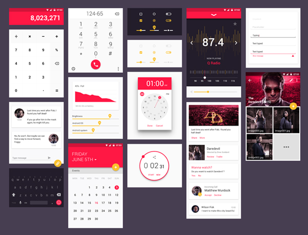 Free Material Design UI Kit