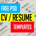 Post Thumbnail of 15 Free PSD CV/Resume and Cover Letter Templates