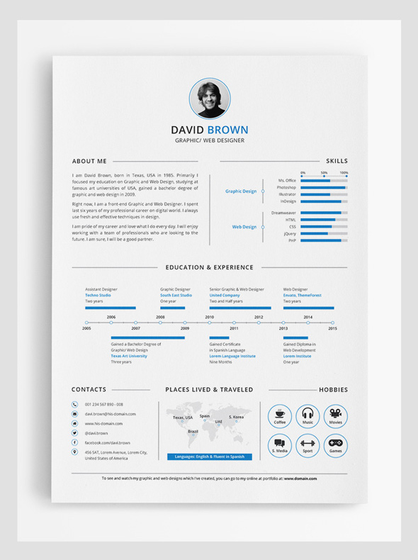Modern Cv / Resume Templates With Cover Letter | Design | Graphic