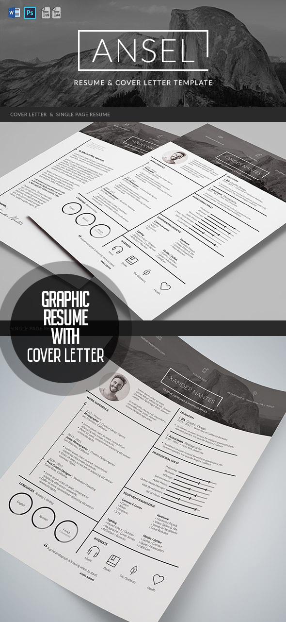 Ansel – Graphic Resume and Cover Letter Template