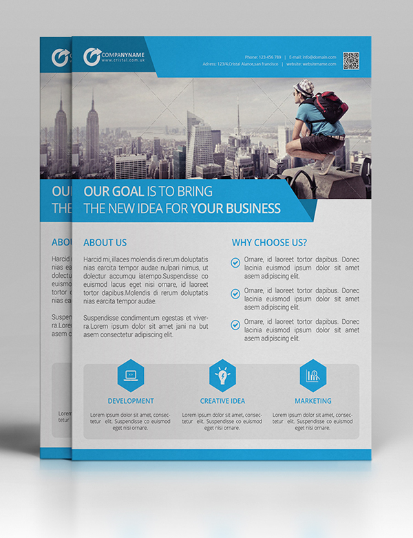 Professional Corporate Flyer Templates  Design  Graphic Design