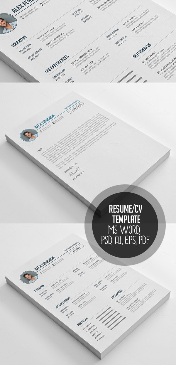 50 Best Minimal Resume Templates - 28
