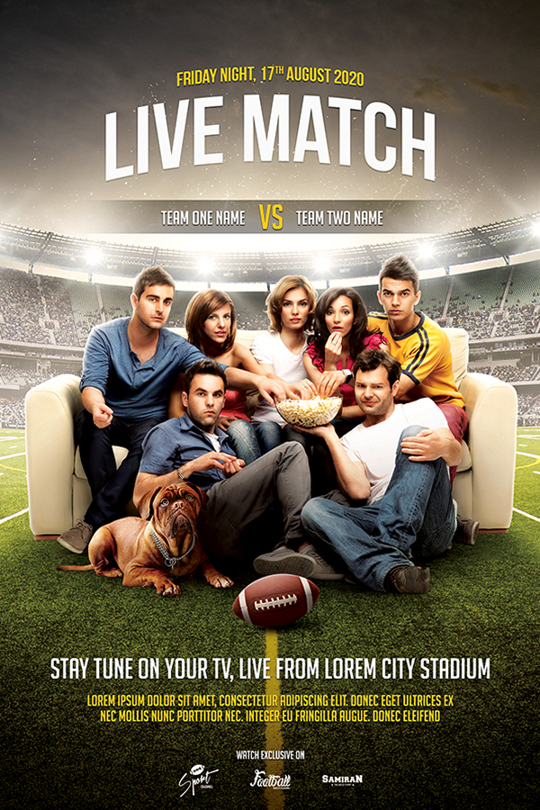 Live Match Football Flyer Template