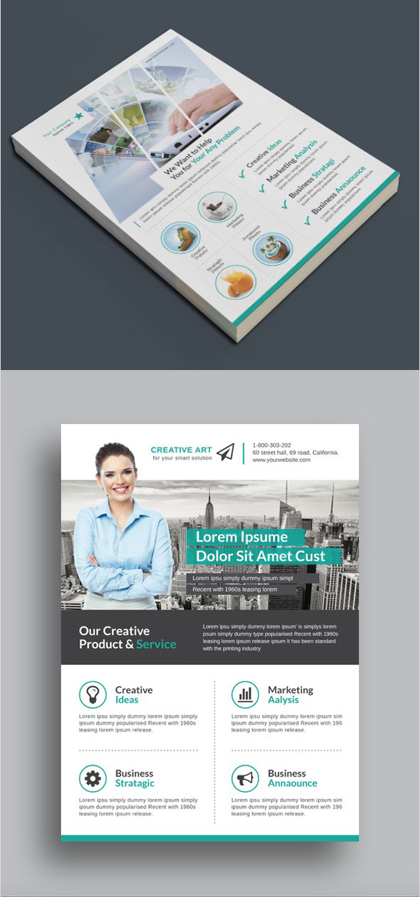 Professional Corporate Flyer Templates  Design  Graphic