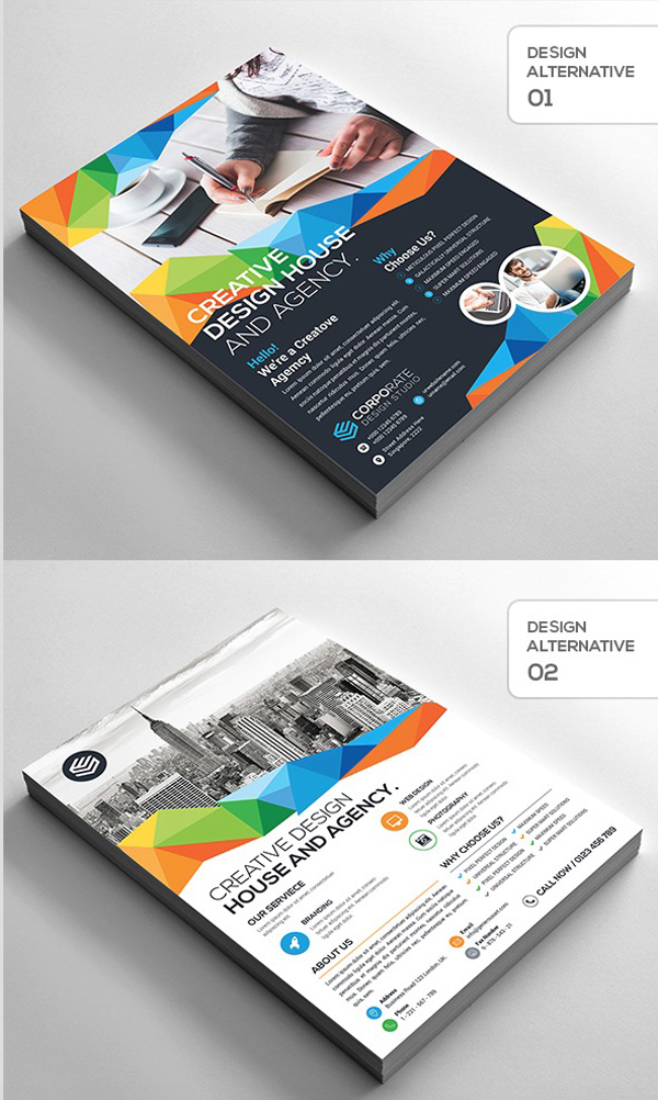 2-Design Creative Corporate Flyer