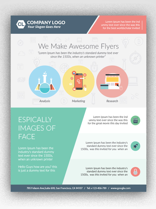 Flyer Layout Template Idealstalist