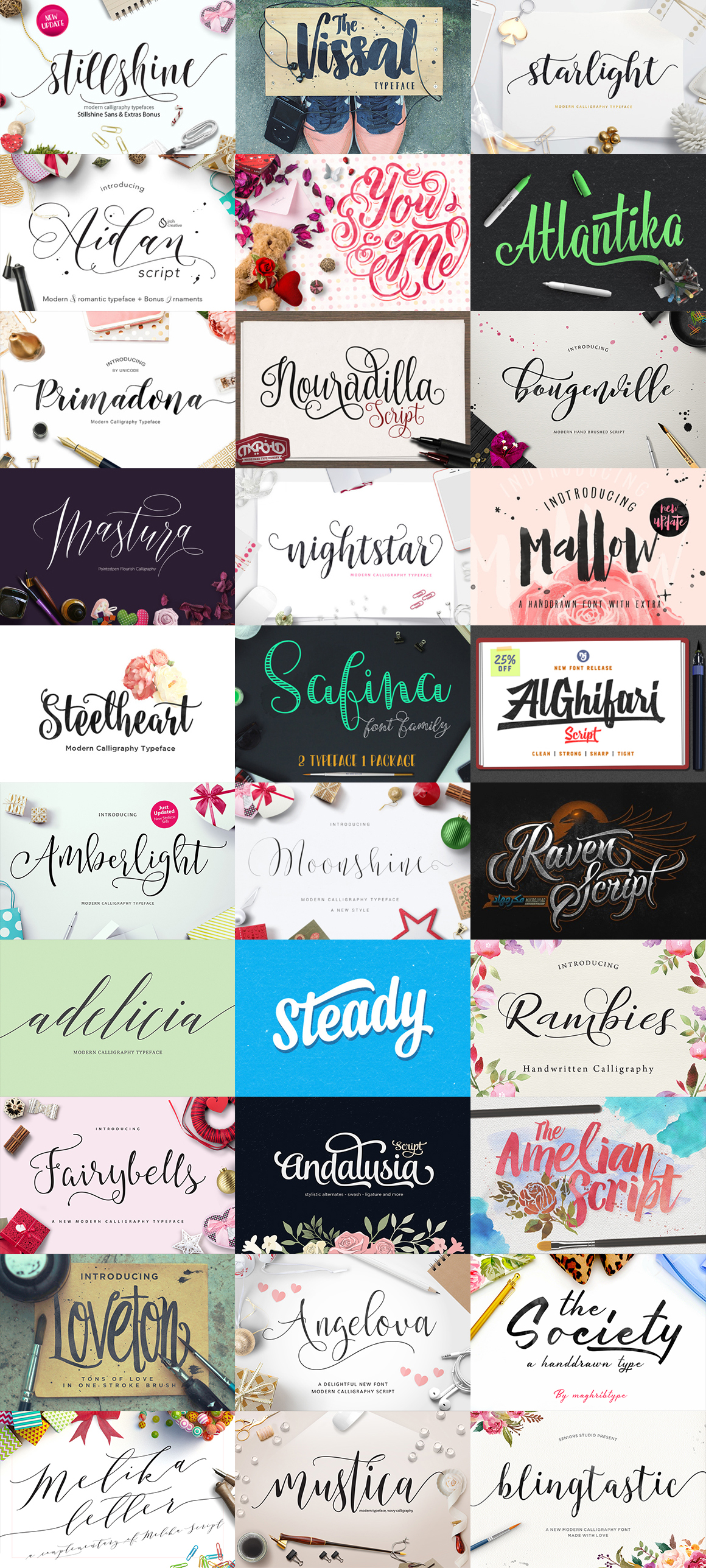 Script Fonts Bundle