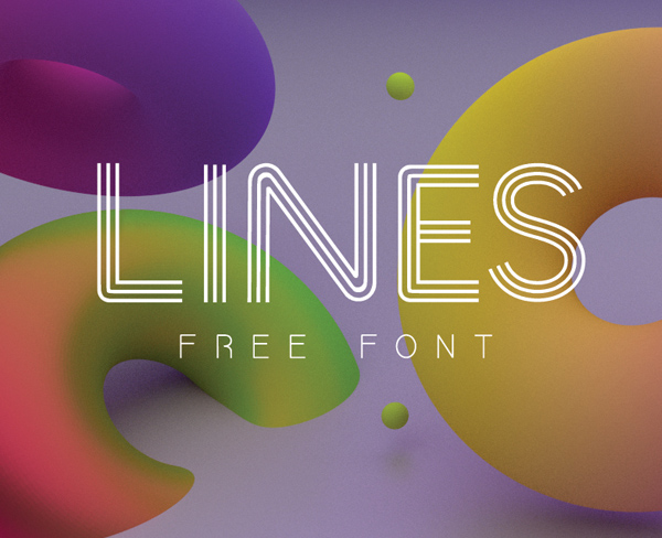 Lines free fonts