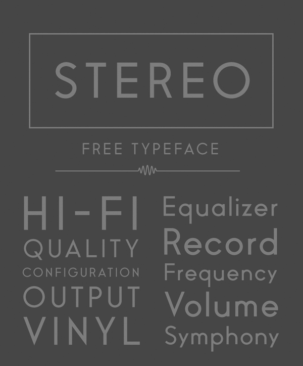 Stereofree fonts