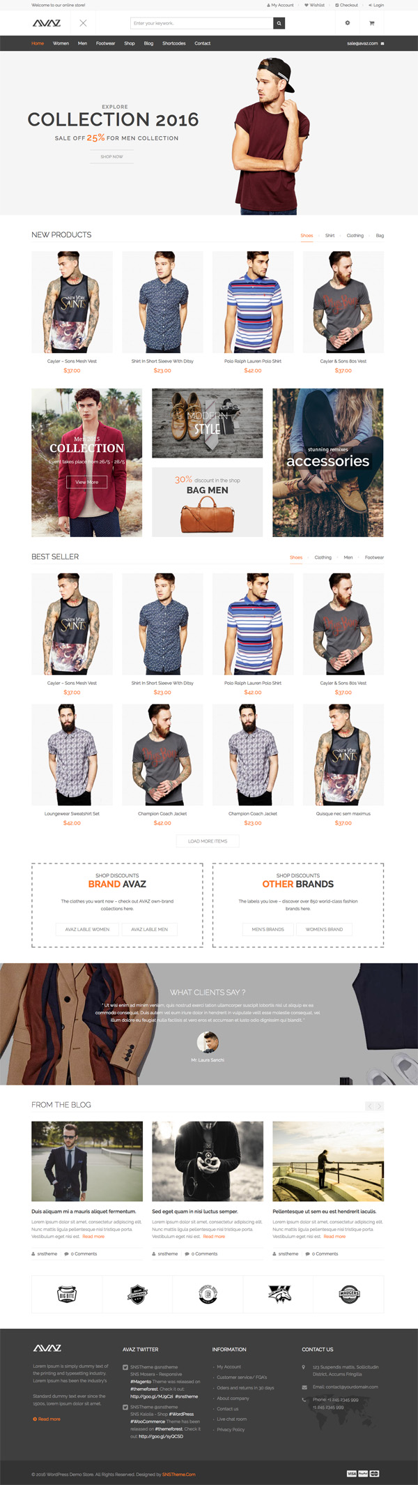 Avaz – Fashion Responsive WooCommerce WordPress Theme