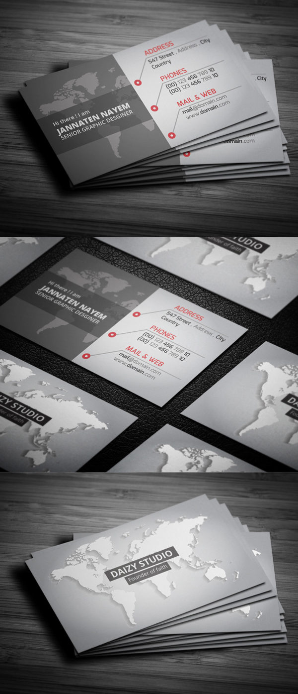 25 New Professional Business Card PSD Templates | Design | Graphic ...