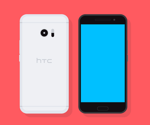 Free Flat Vector HTC 10 Smartphone