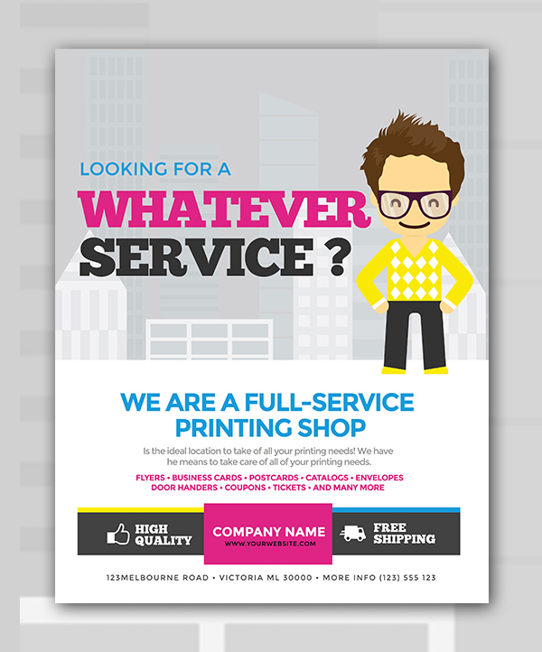 Free Services Flyer PSD Template