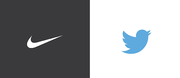 Twitter and Nike iconic custom logo designs
