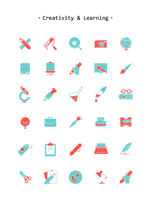 Free Art & Learning Icon Set
