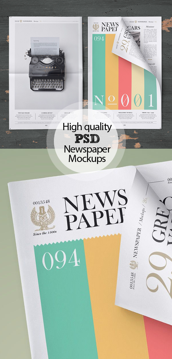 Free Newspaper Mockups PSD