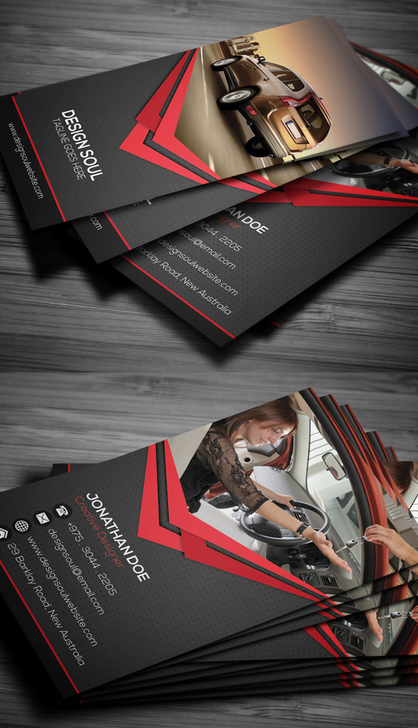 Business Card Templates New Print Ready Designs Design - Mechanic business cards templates free