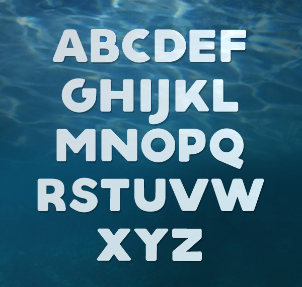 Aquino fonts and letters