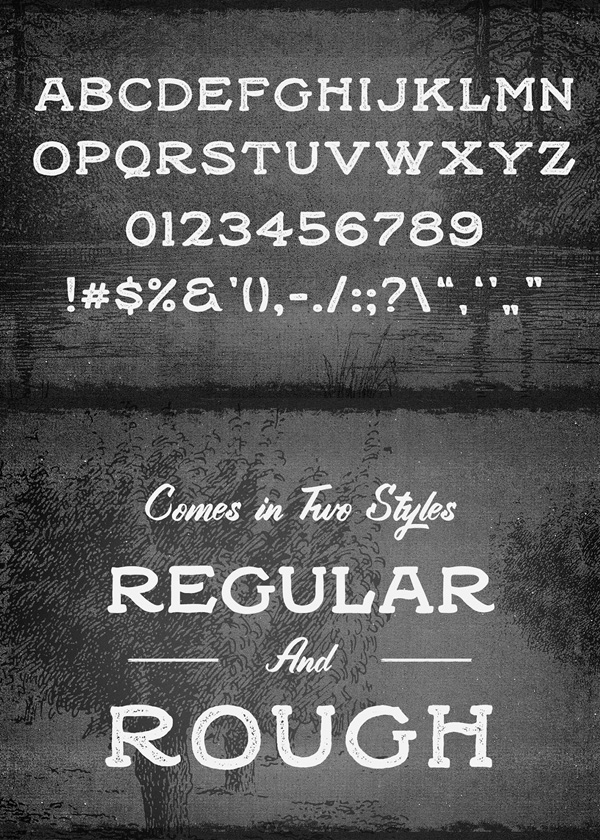 Black Willow Free Hipster Fonts and Letters
