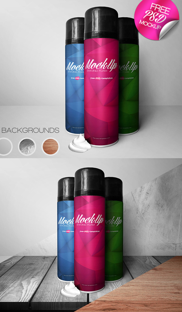 Free Shaving Foam Mock-up in PSD