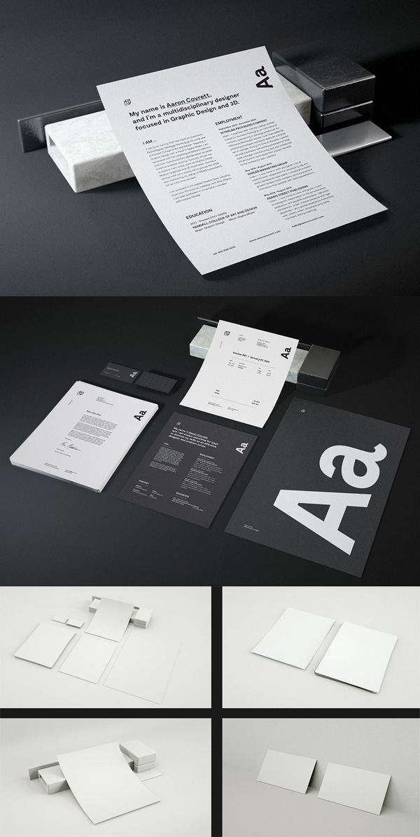 Free Resume Mockup PSD Template
