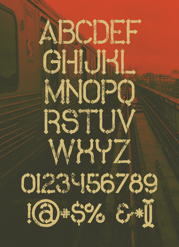 Metro Grunge Free Hipster Fonts and Letters