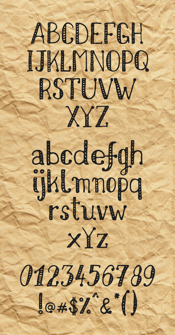 Nikolaidis Hand Free Hipster Fonts and Letters