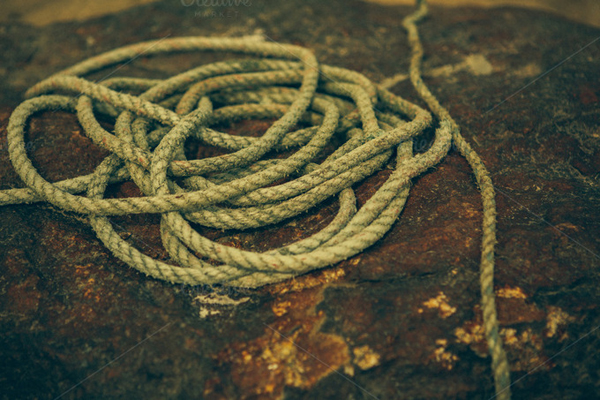Fishing Rope Abstract Photo