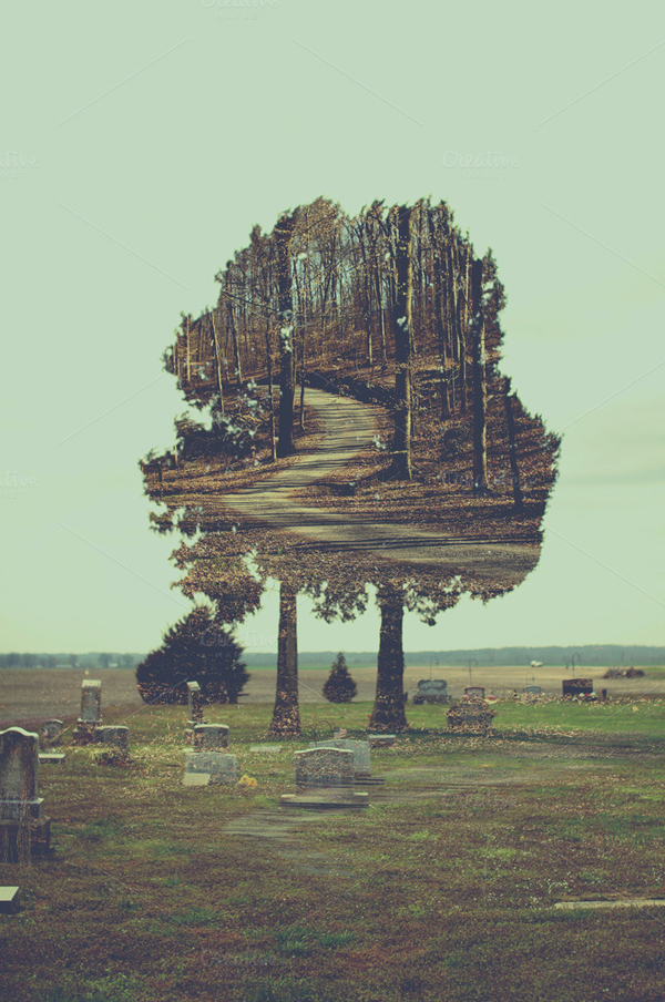 Eerie Double Exposure Photo