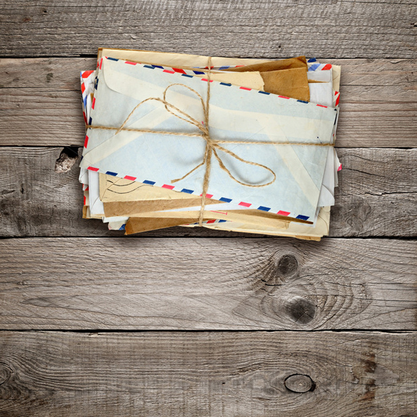 Bunch of old envelopes abstract photo
