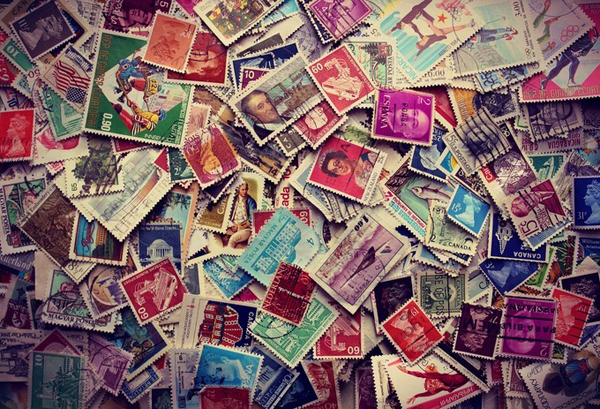 Stamps Abstract Photo