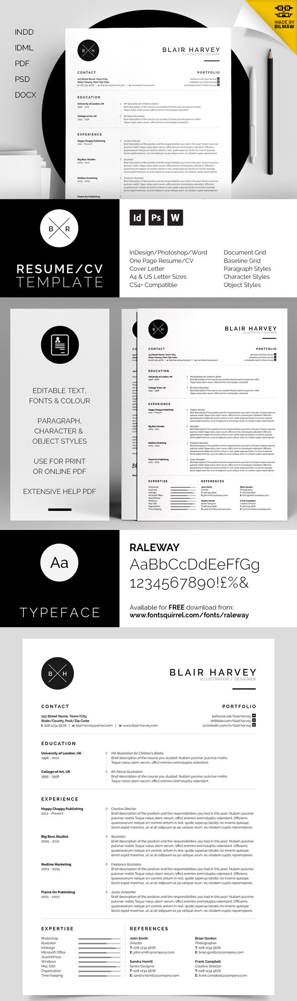 50 best minimal resume templates 21 - Best Fonts For Resume