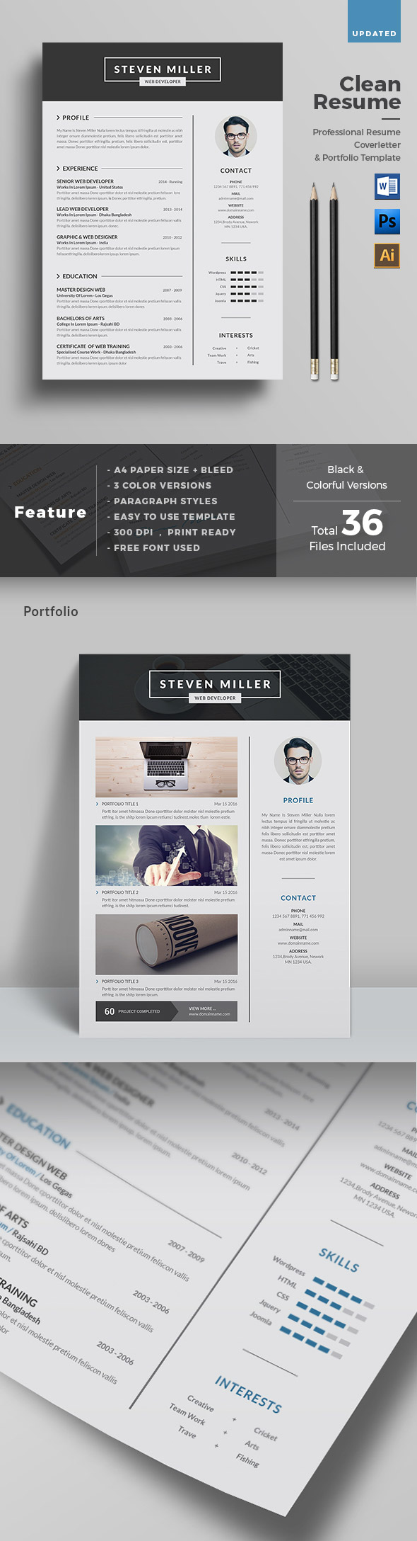 50 Best Minimal Resume Templates - 22