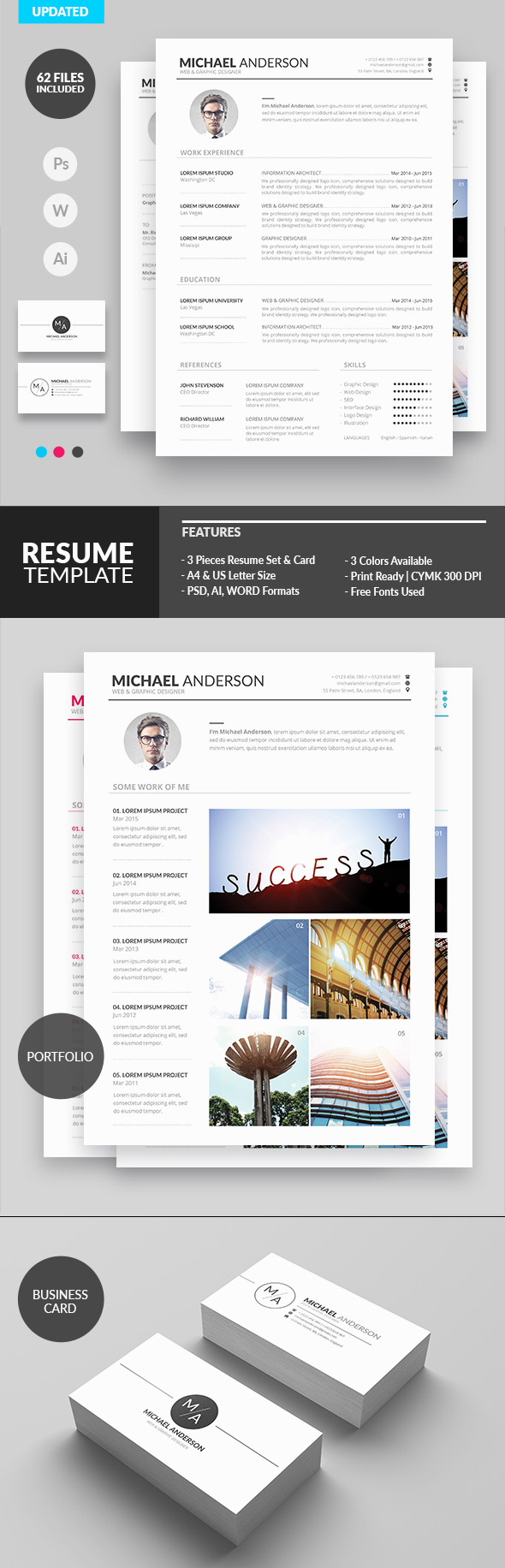 Minimal Resume Design for Creatives