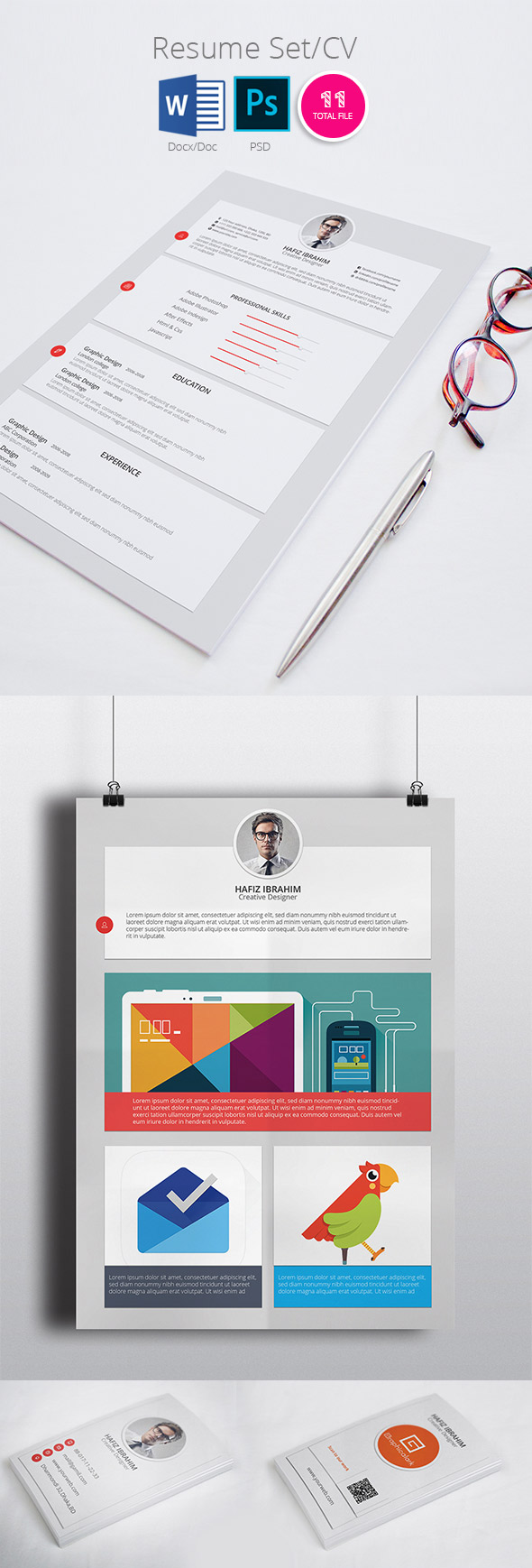 Modern Resume/CV Template Design