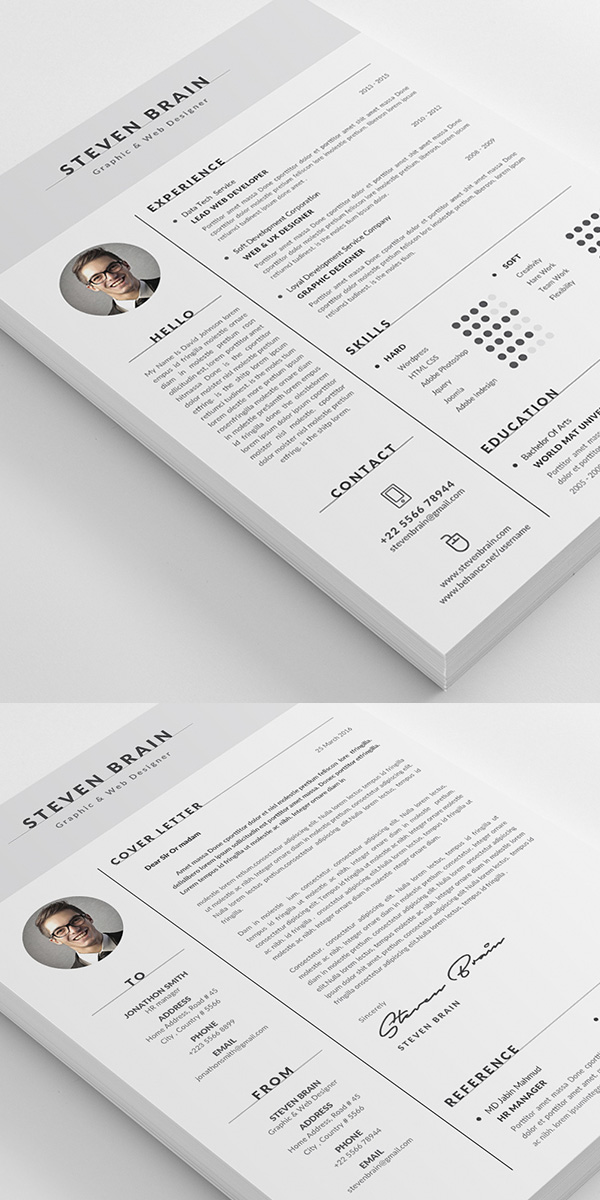 50 Best Minimal Resume Templates   19