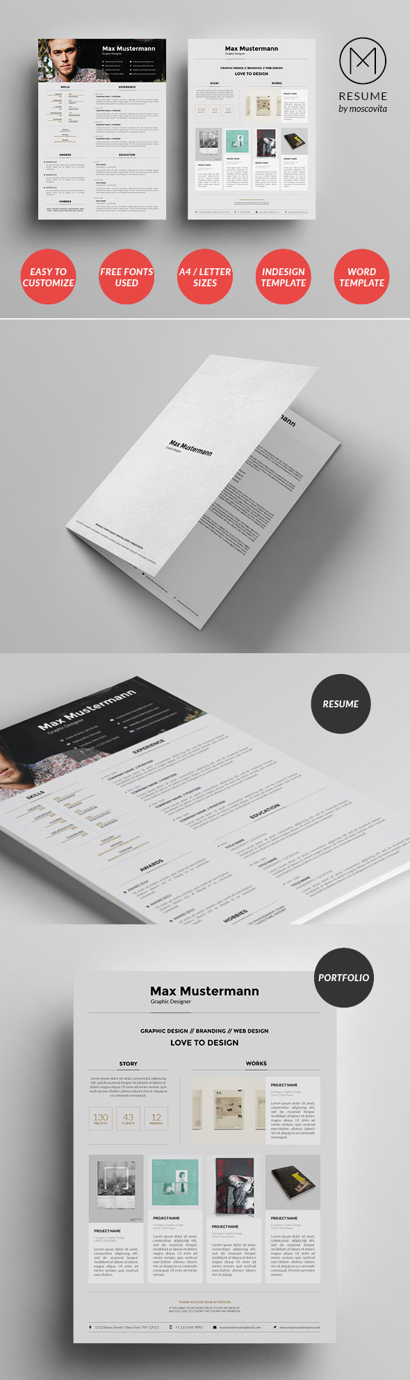 Structured Creative Resume Template Design