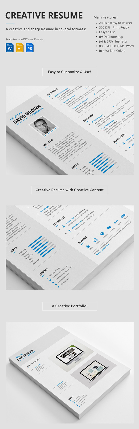 Professional Creative Resume Set