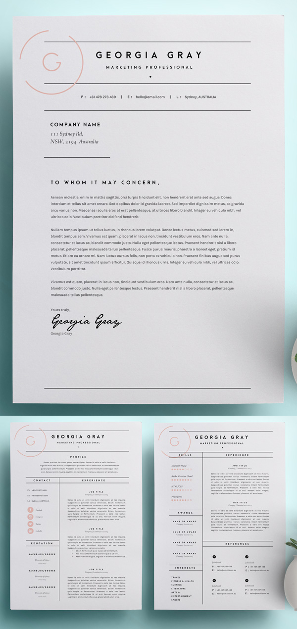 50 best minimal resume templates 5