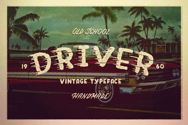 DRIVER Retro action typeface