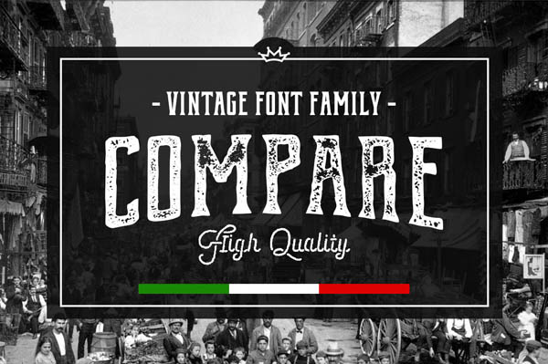 Compare is a new display font family