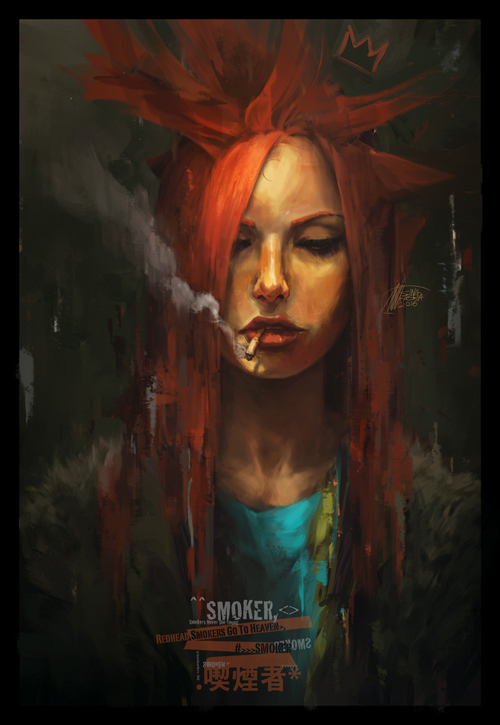 Redhead Smokers Go To Heaven by Sina Pakzad Kasra