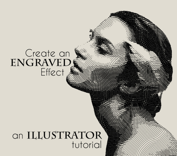 How to create an engraved illustration effect in Illustrator