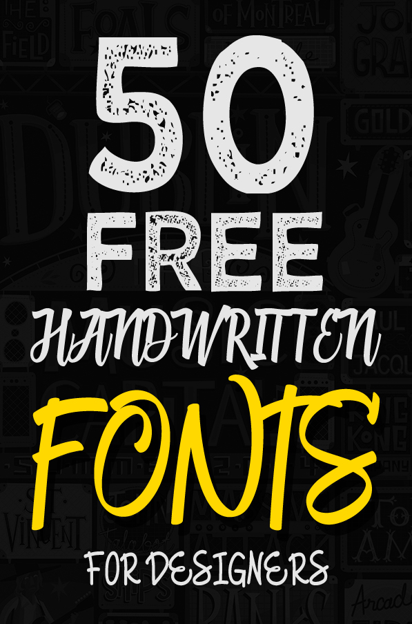 50 Amazing Free Handwritten Fonts for Designers