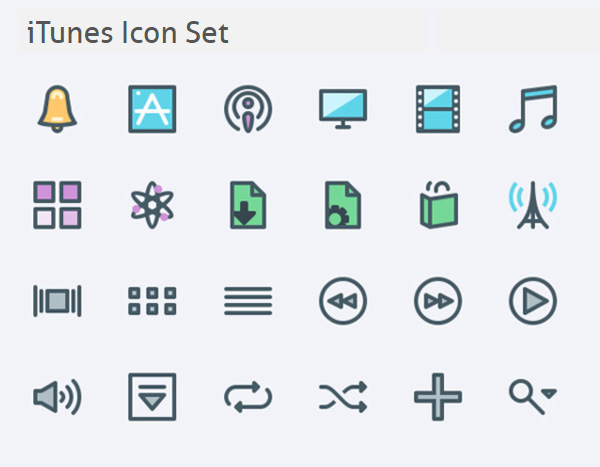 Free iTunes Icon Set (24 Icons)